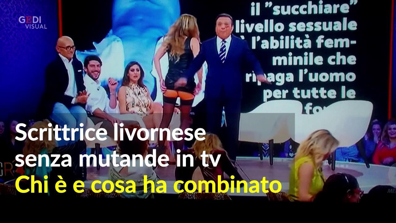 Scrittrice Livornese Senza Mutande In Tv Da Chiambretti Video Il
