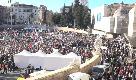 Manifestazione Lega, piazza del Popolo vista dall'alto