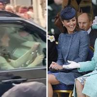 """Gb, """"Un tè con la Regina per i dissidi con Meghan?"""": Kate al volante entra a Buckingham Palace"""