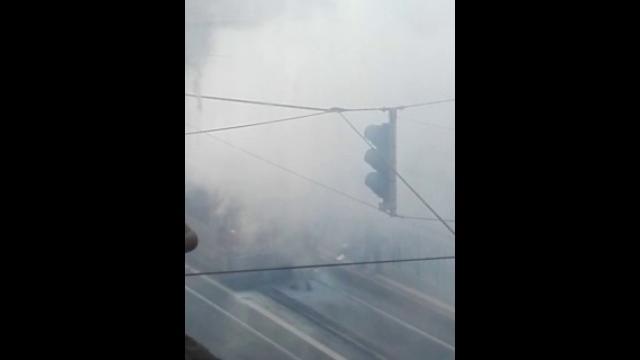 Torino, autobus affollato in fiamme in via Cibrario nell'ora di punta