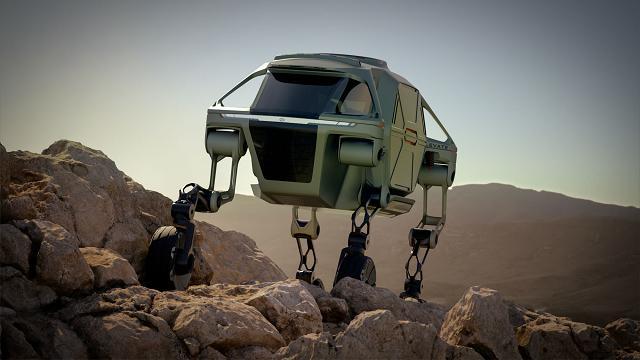 Hyundai Elevate, ecco la pazzesca auto con le gambe