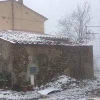 Livorno, neve alla Valle Benedetta