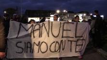 """Roma, piazza piena per Manuel Bortuzzo: """"Forza campione, siamo tutti con te"""""""