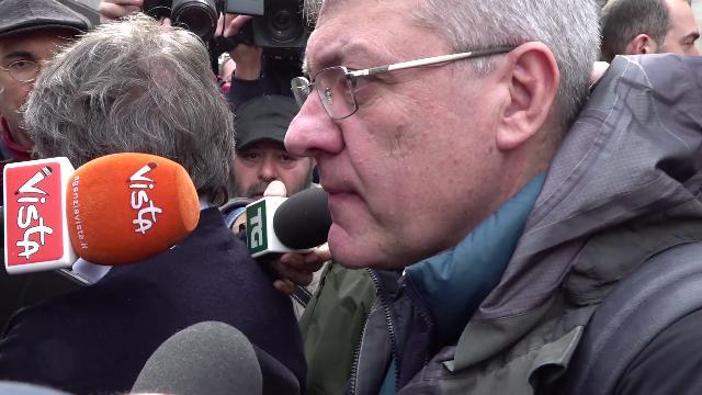 Marcia antirazzista, Landini: ''Questa piazza va oltre la sinistra, rimettere al centro il lavoro''
