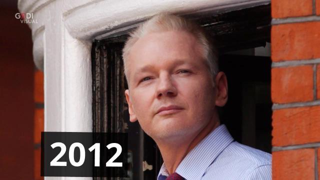 Com'è cambiato Julian Assange nei sette anni di asilo politico a Londra