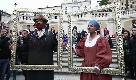 Roma, Biagio Antonacci e Laura Pausini: esibizione a sorpresa in piazza di Spagna