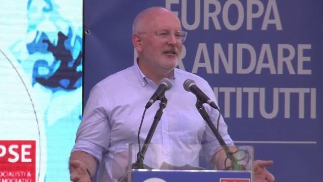 Europee, il socialista Timmermans al Pd: