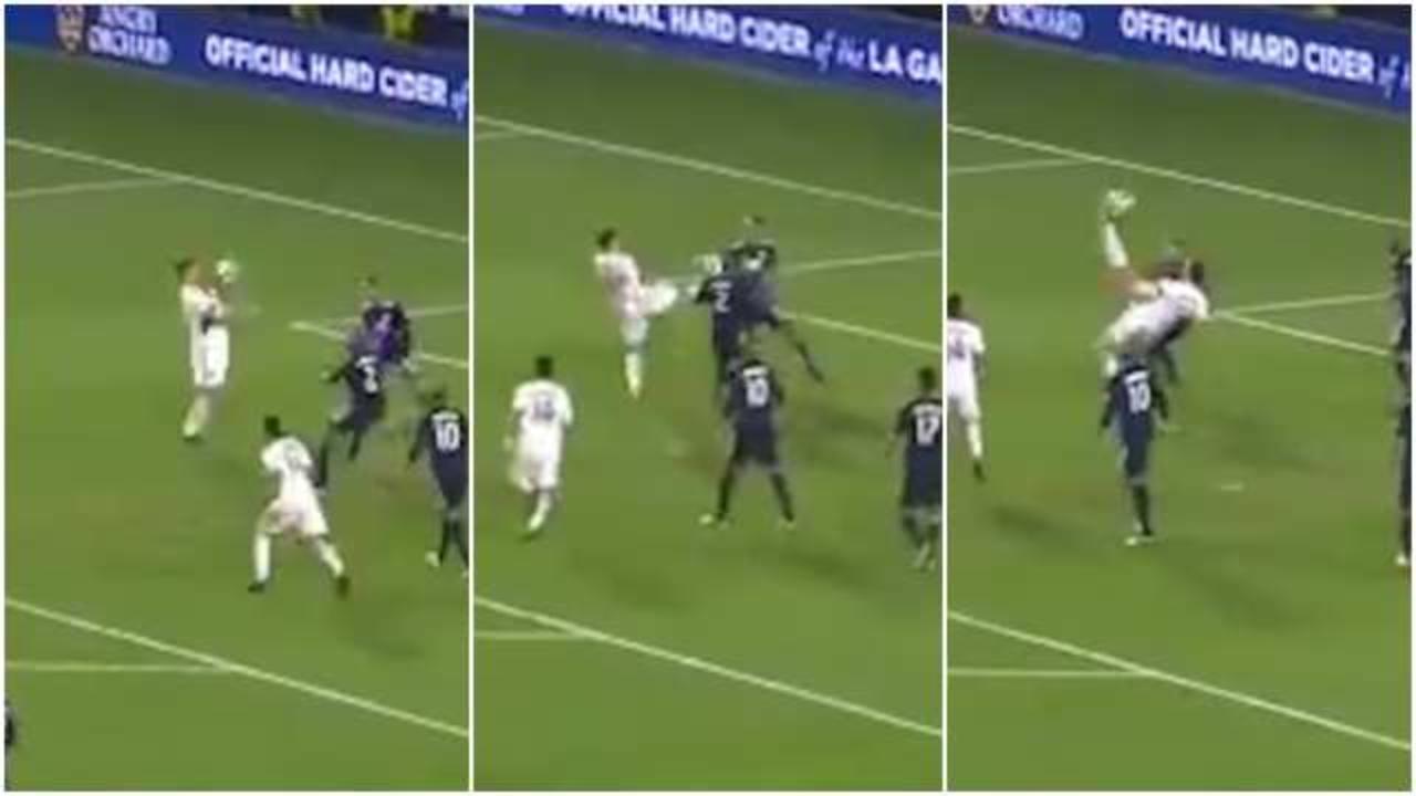 Risultati immagini per Sombrero e rovesciata: Ibrahimovic segna uno dei gol più belli della sua carriera