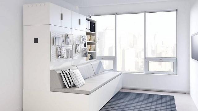 """I mobili che """"si muovono"""" per ridisegnare un monolocale: l'ultima trovata di Ikea"""
