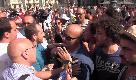 Catania, Salvini contestato: allontanati supporter del ministro