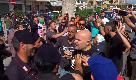 "Castel Volturno, tensione per l'arrivo di Salvini: ""Buffone, ci hai traditi"" urlano i manifestanti"