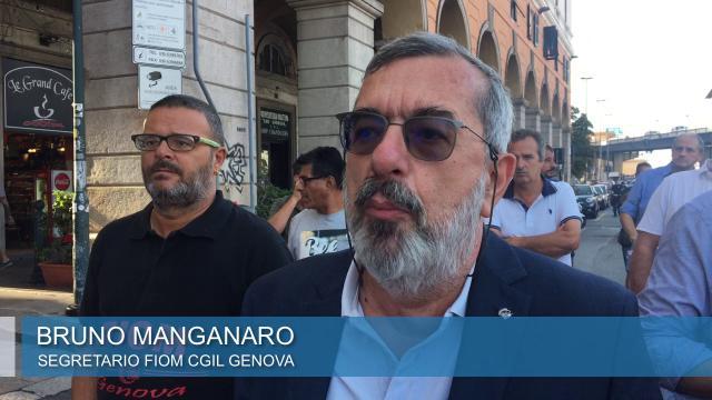Genova, lavoratori Gmg in corteo