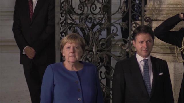 Conte incontra Merkel: l'arrivo della cancelliera tedesca a Villa Pamphilj