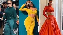 Jennifer Lopez, che passione i look monocromo! Questa volta stupisce in total green