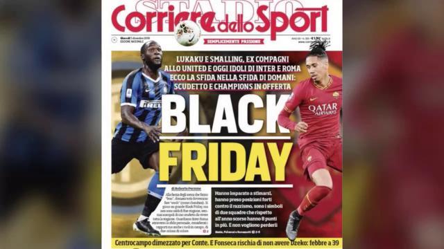 'Black Friday' sulla prima pagina del Corriere dello Sport: le reazioni