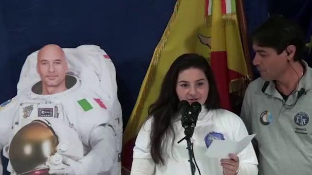 Messina, Parmitano dallo spazio risponde alla studentessa di Lipari: