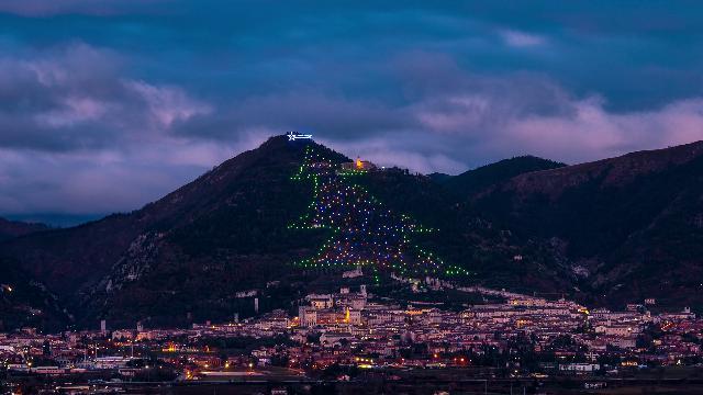 È italiano l'albero di Natale più grande del mondo, le immagini in timelapse dell'accensione