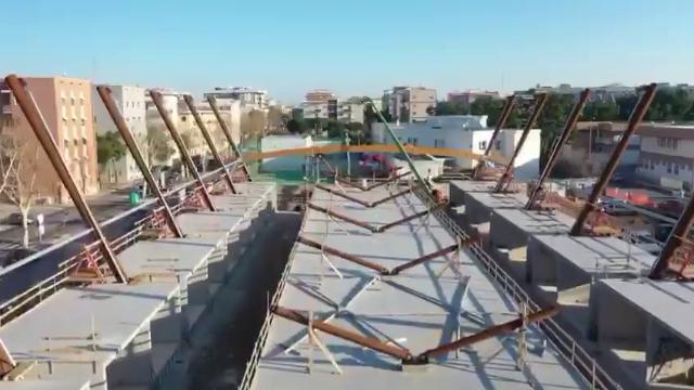 Bari, il mercato che verrà: le riprese dall'alto della struttura di Santa Chiara a Japigia