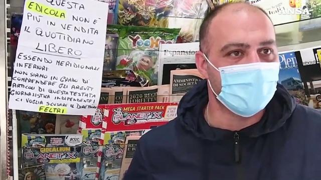 """Edicole napoletane contro Feltri: """"Essendo meridionali inferiori non vendiamo più Libero"""""""
