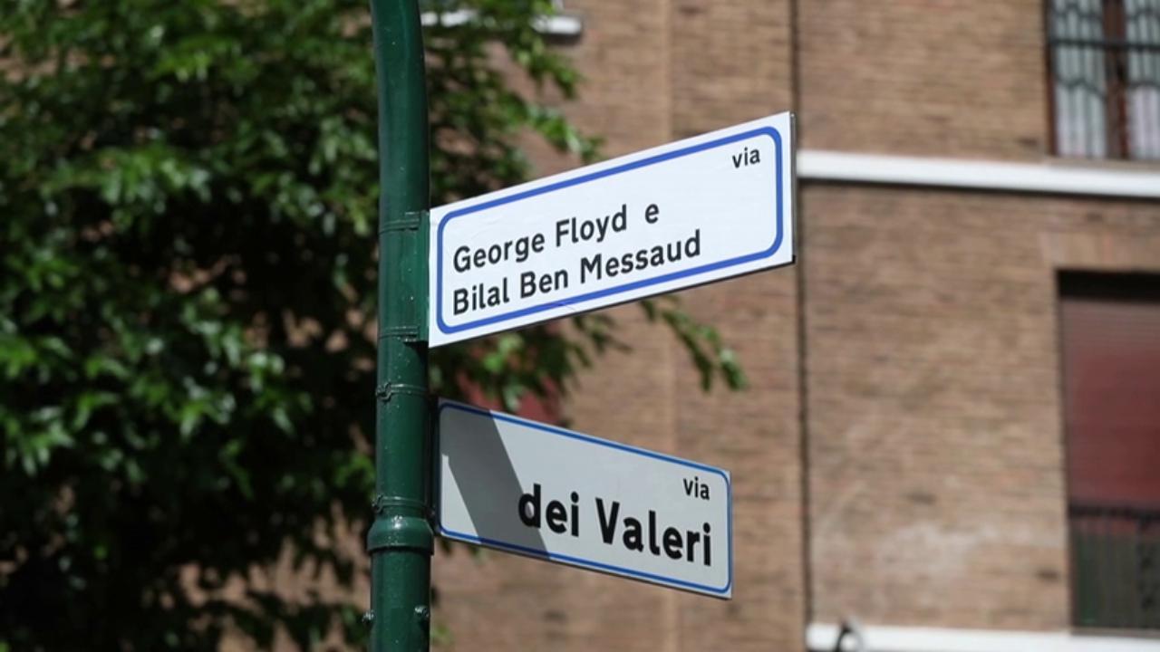 Blitz nella notte: a Roma via dell'Amba Aradam diventa via George Floyd