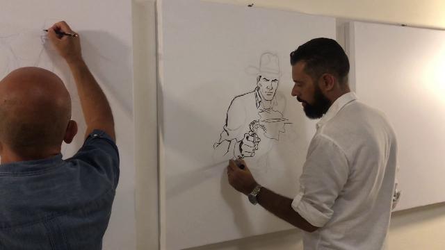 Salerno, la mostra dedicata a Tex, i disegni di Brindisi e Nespolino