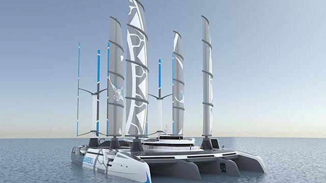 Manta, il gigantesco e iper-tecnologico catamarano che ripulisce gli oceani dalla plastica