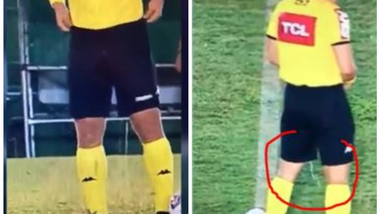 Brasile, momento imbarazzante per l'arbitro che non si trattiene in campo: il video è virale