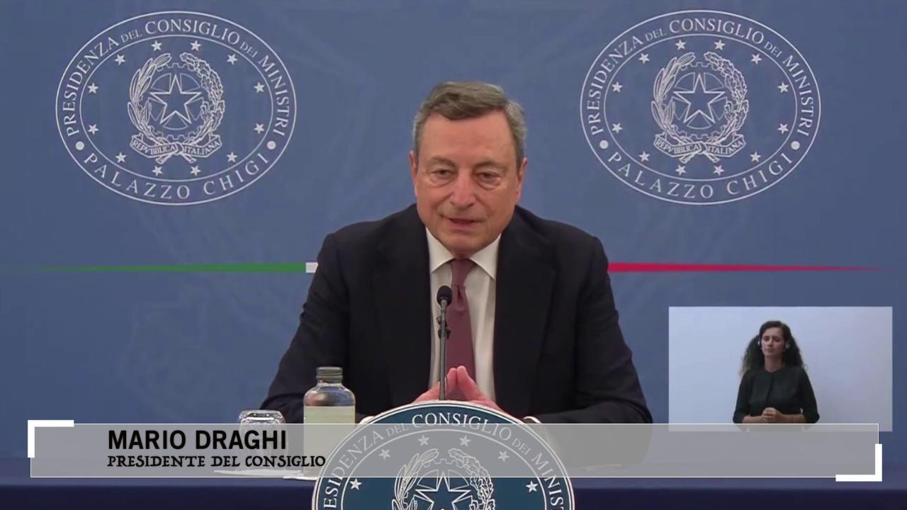 """Draghi: """"Il green pass non è un arbitrio. L"""