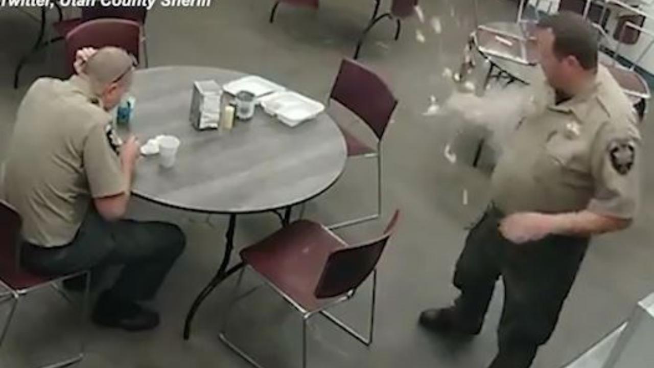 Usa, poliziotto scalda un uovo nel microonde, quando lo tira fuori gli esplode in mano.