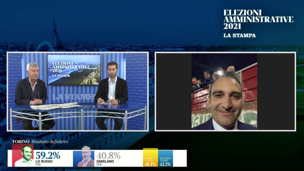 Stefano Lo Russo racconta a La Stampa il primo messaggio che ha ricevuto dopo la vittoria